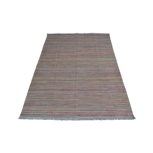 Kelim teppich -251X172cm streep Multicolor afghan