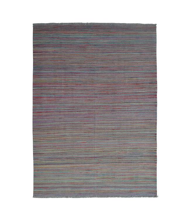 Kelim kleed-247X172cm streep  Multicolor Kleed Hand Geweven
