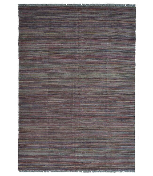 Kelim kleed-247X175 cm streep  Multicolor Kleed Hand Geweven