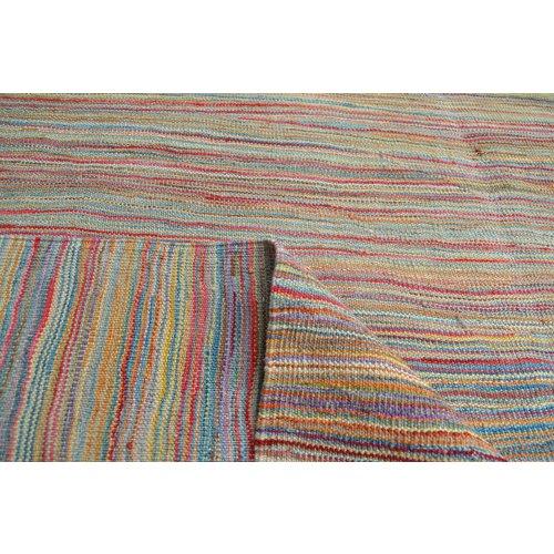 Kelim teppich -240X184cm  streep Multicolor afghan