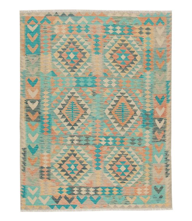 Kelim kleed 200X151 cm   Multicolor Kleed Hand Geweven