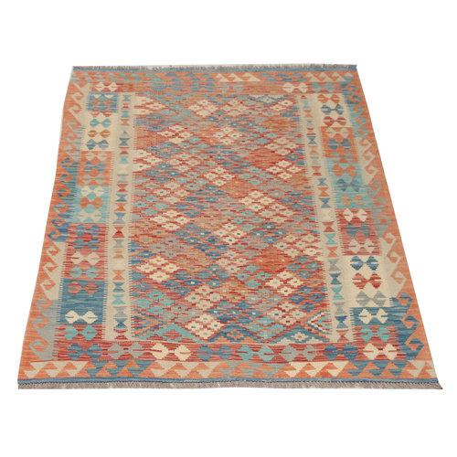 Kelim teppich 195X145 cm Multicolor afghan