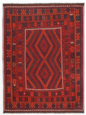 335x255 cm Handgemacht afghanisch traditionell Wolle Kelim Teppich