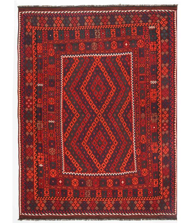 335x255 cm Handgeweven Traditioneel Afghaans Kelim Kleed Wol Tapijt