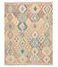 196x154 cm Handgeweven Traditioneel Afghaans Kelim Kleed Wol Tapijt