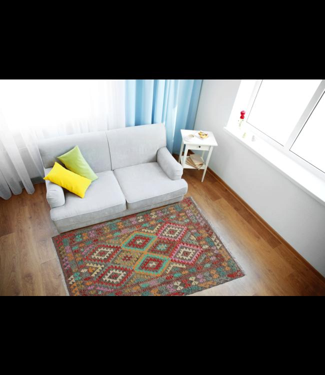 kelim  217x161 cm vloerkleed tapijt kelims hand geweven