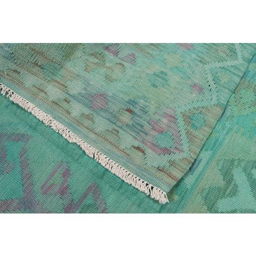 197x147  cm Handgemacht afghanisch Wolle Kelim Orientteppich