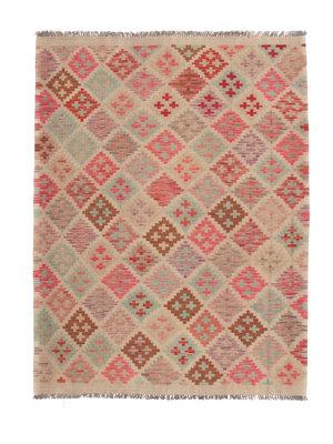 200x150  cm Handgemacht afghanisch Wolle Kelim Orientteppich