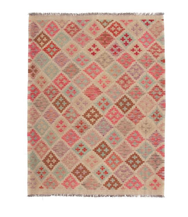 200x150 cm Handgemaakt Afghaans Kelim Kleed Oosters Tapijt
