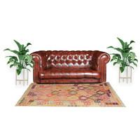 exclusive Kelim Teppich 303x205 cm Multicolor afghan kilim teppich
