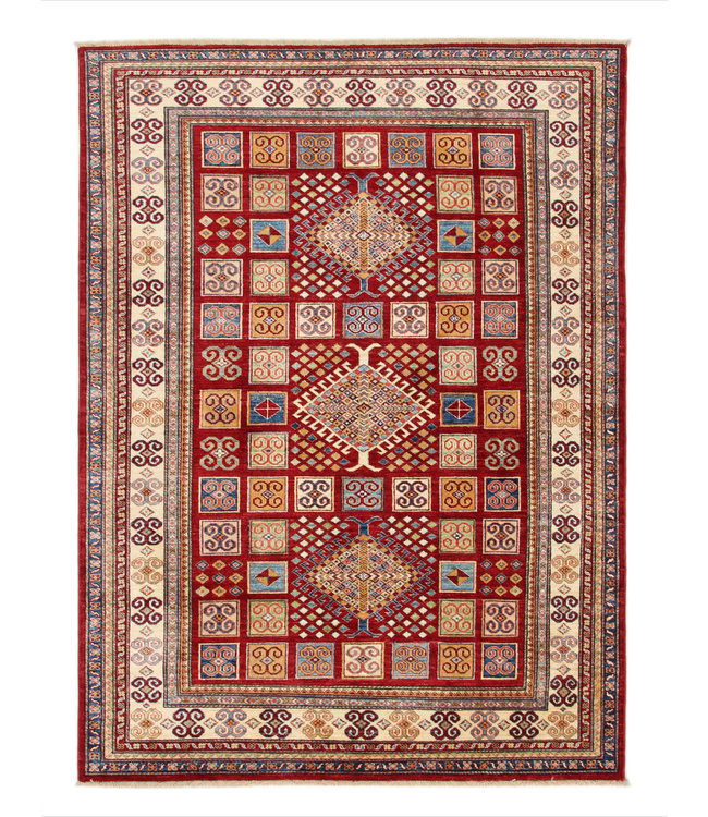 231x171cm kazak tapijt fijn  Handgeknoopt wol