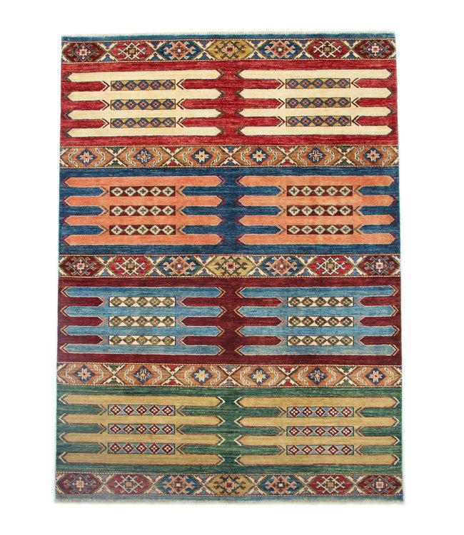 234x170cm  shall kazak tapijt fijn  Handgeknoopt wol