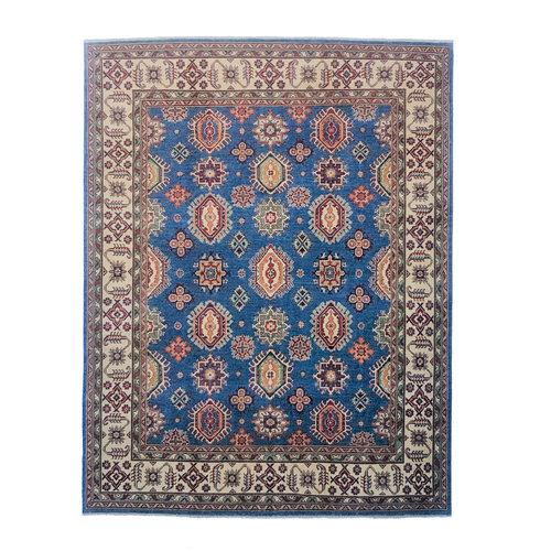 Blau Handgeknüpft wolle kazak teppich 305x250 cm Orientalisch teppichboden