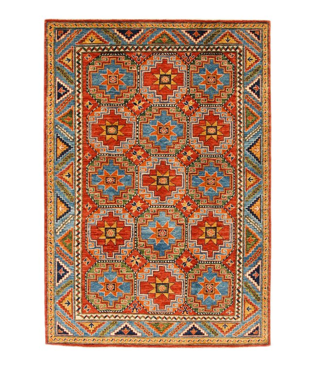 245x166 cm kazak tapijt fijn  Handgeknoopt wol