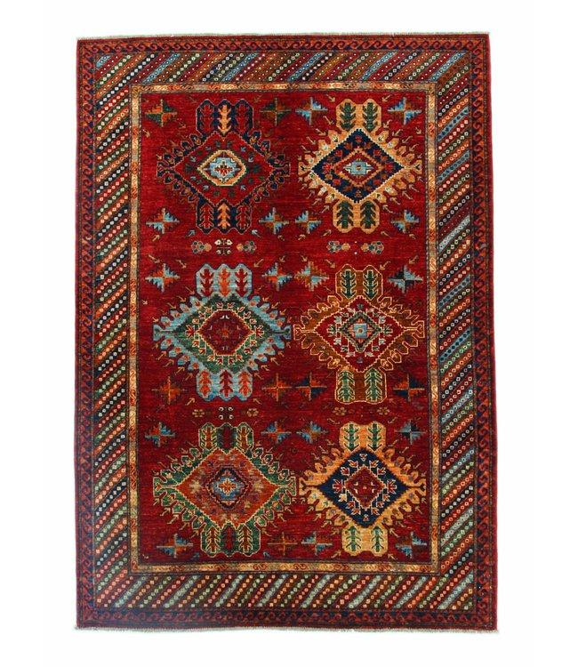 243x169 cm kazak tapijt fijn  Handgeknoopt wol