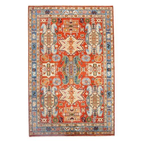 262x168 cm Kazak Rug Fine Hand knotted  Wool Oriental Carpet