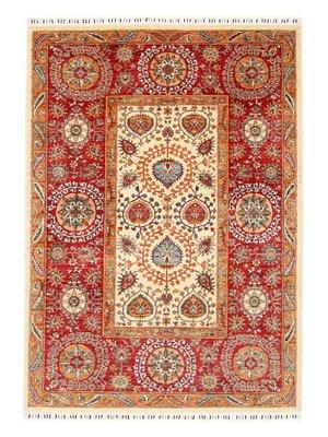 242x168 cm Kazak Rug Fine Hand knotted  Wool Oriental Carpet