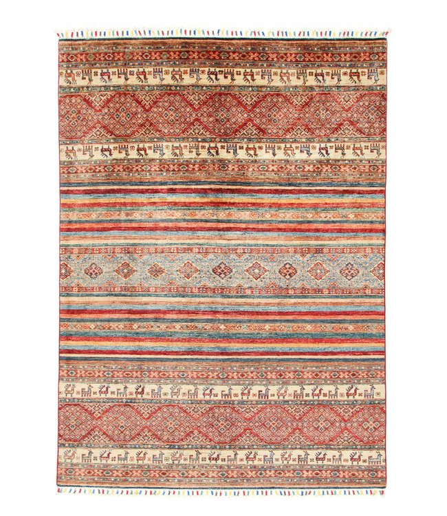 245x174 cm kazak tapijt fijn  Handgeknoopt wol