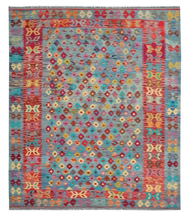 Handgemaakt Oosters Kelim Wol Vloerkleed 193x153 cm