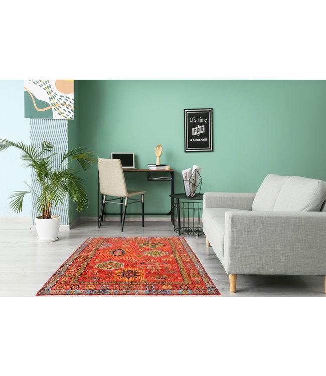 236x174 cm kazak tapijt fijn  Handgeknoopt wol