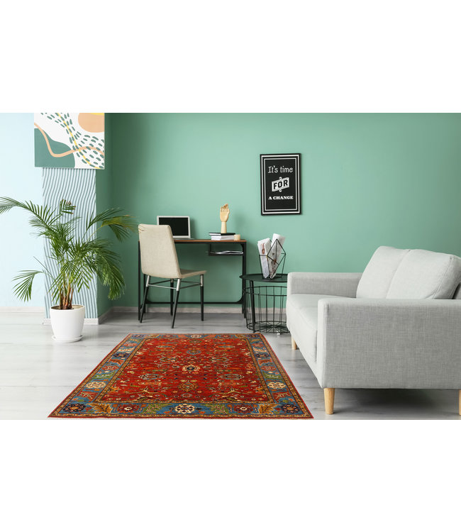 253x175 cm kazak tapijt fijn  Handgeknoopt wol
