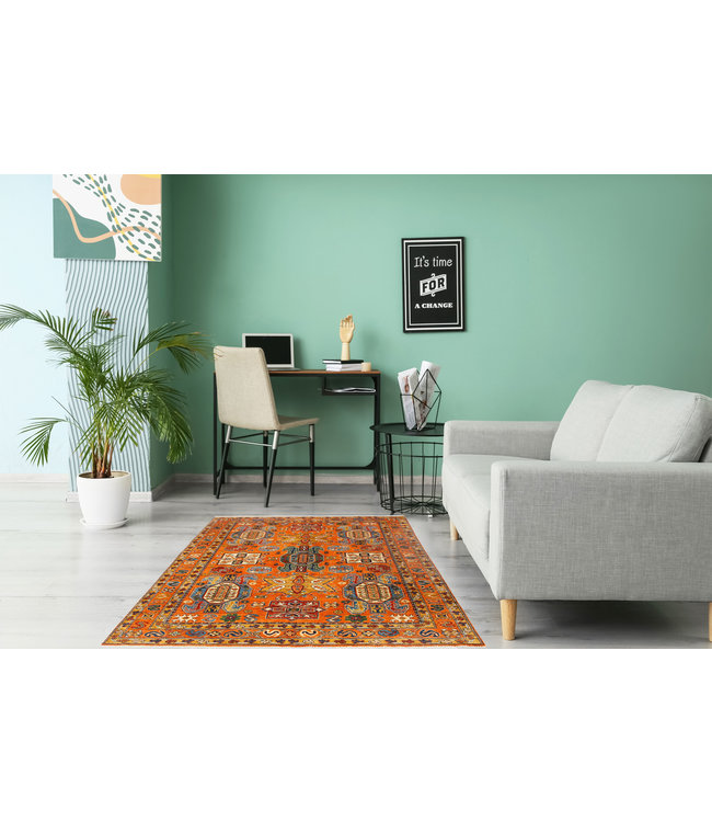 241x170 cm kazak tapijt fijn  Handgeknoopt wol