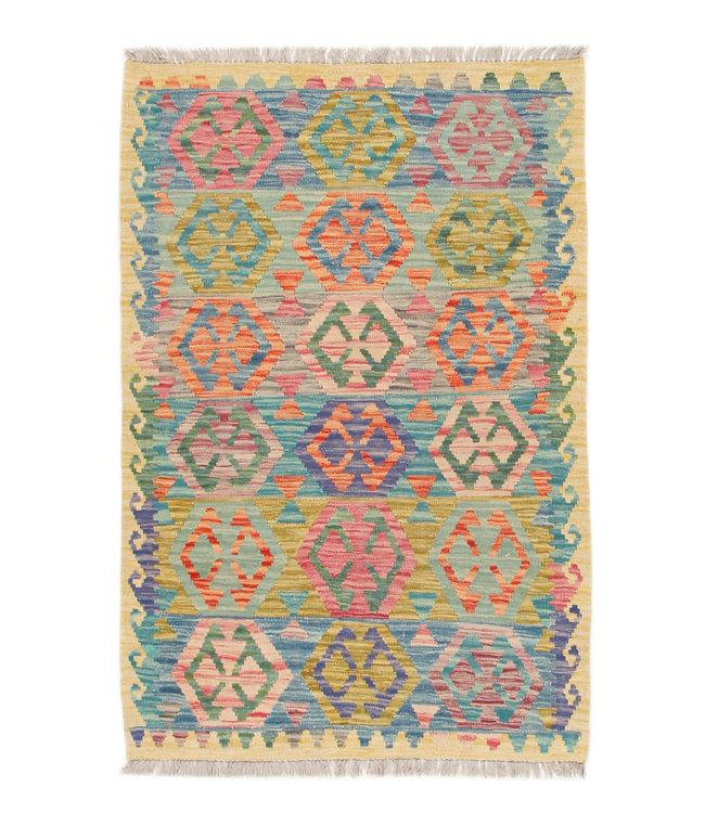 148x100 cm Kelim Kleed  Vloerkleed Tapijt Kelim Hand Geweven
