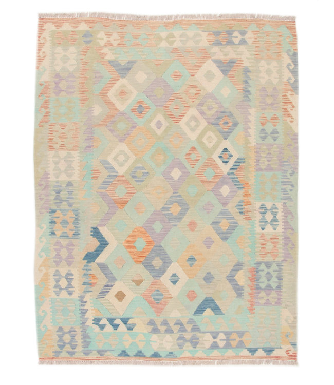 195x150 cm  Afghan  Hand woven wool kilim Carpet Oriental Kelim Rug