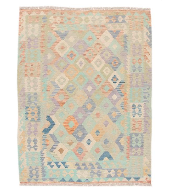 195x150 cm Hand Woven Afghan Wool Kilim Area Rug