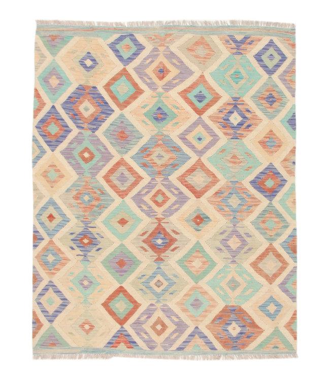 193x151 cm Kelim Kleed  Vloerkleed Tapijt Kelim Hand Geweven