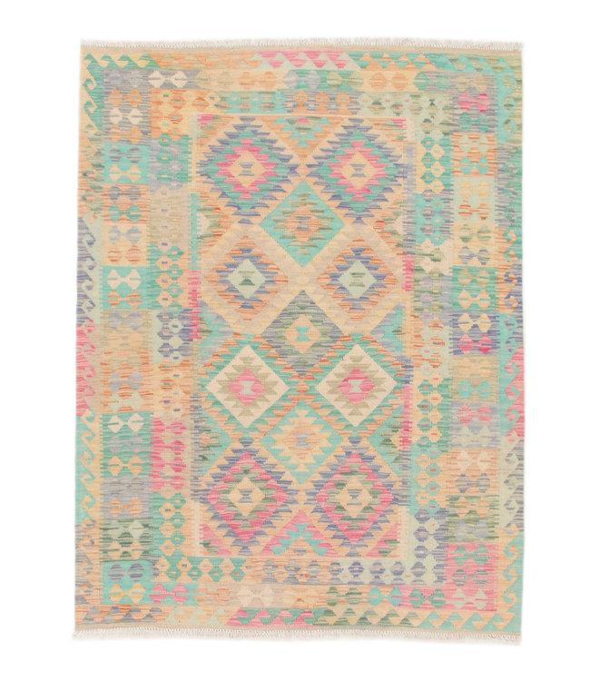 200x155 cm Kelim Kleed  Vloerkleed Tapijt Kelim Hand Geweven