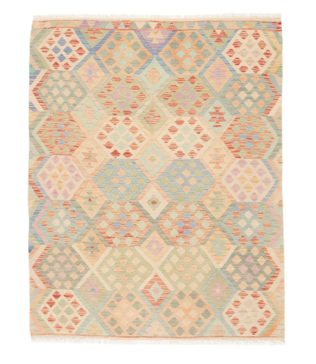 194x152 cm Kelim Kleed  Vloerkleed Tapijt Kelim Hand Geweven