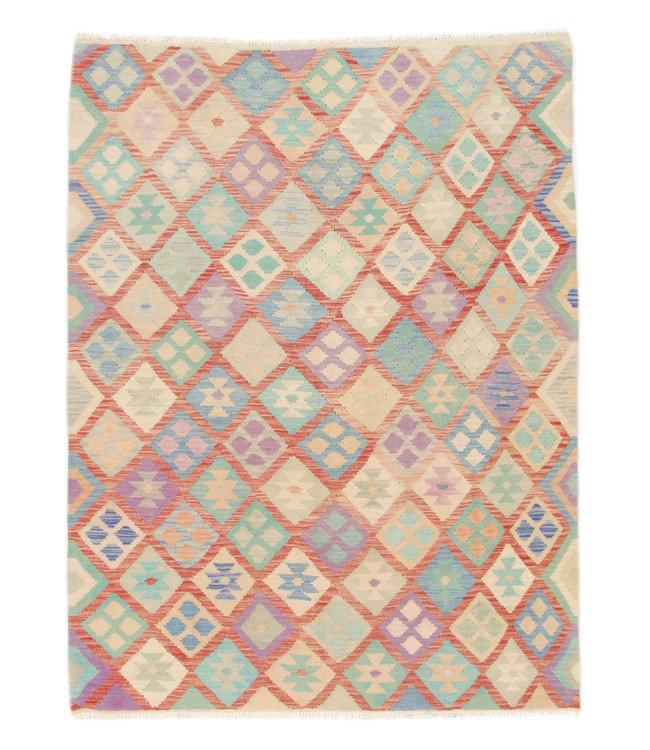 200x145 cm Kelim Kleed  Vloerkleed Tapijt Kelim Hand Geweven
