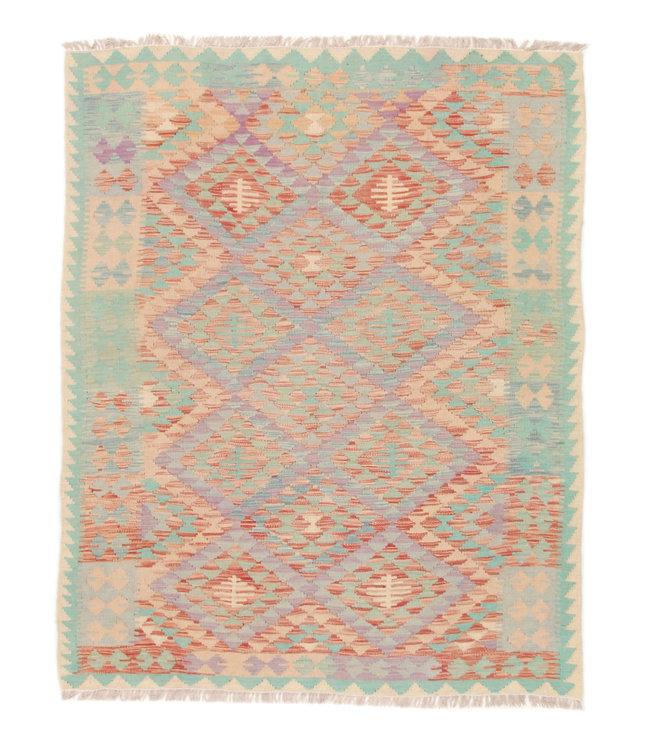 191x152 cm Kelim Kleed  Vloerkleed Tapijt Kelim Hand Geweven
