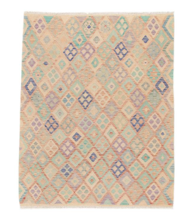 197x152 cm Kelim Kleed  Vloerkleed Tapijt Kelim Hand Geweven