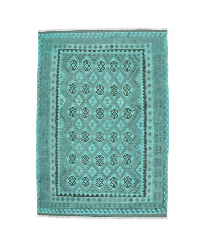 9'65x6'76 Hand Woven Afghan Wool Kilim Area Rug