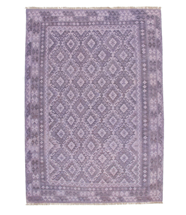 exclusive  Vloerkleed Tapijt Kelim 292x205 cm Natural Kleed Hand Geweven Kilim