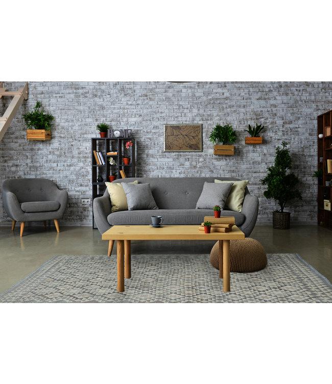 9'45x6'80 Hand Woven Brown Wool Kilim Area Rug
