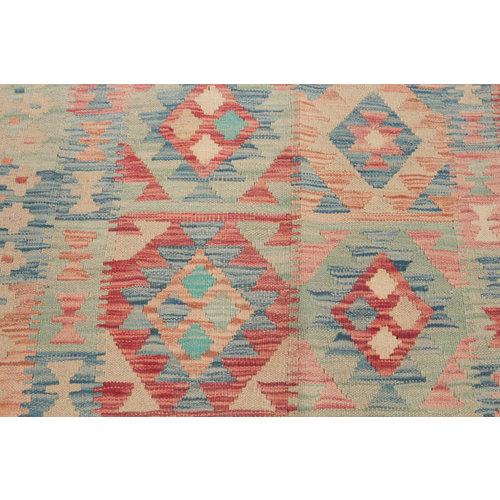 198x150  cm Handgemacht afghanisch Wolle Kelim Orientteppich