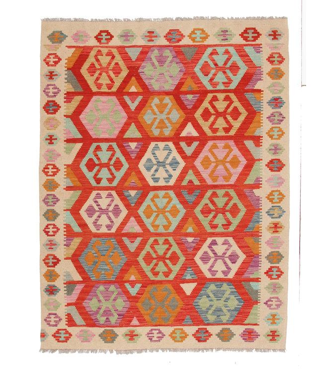 189x150 cm Handgemaakt Wol Kelim Kleed Oosters Tapijt