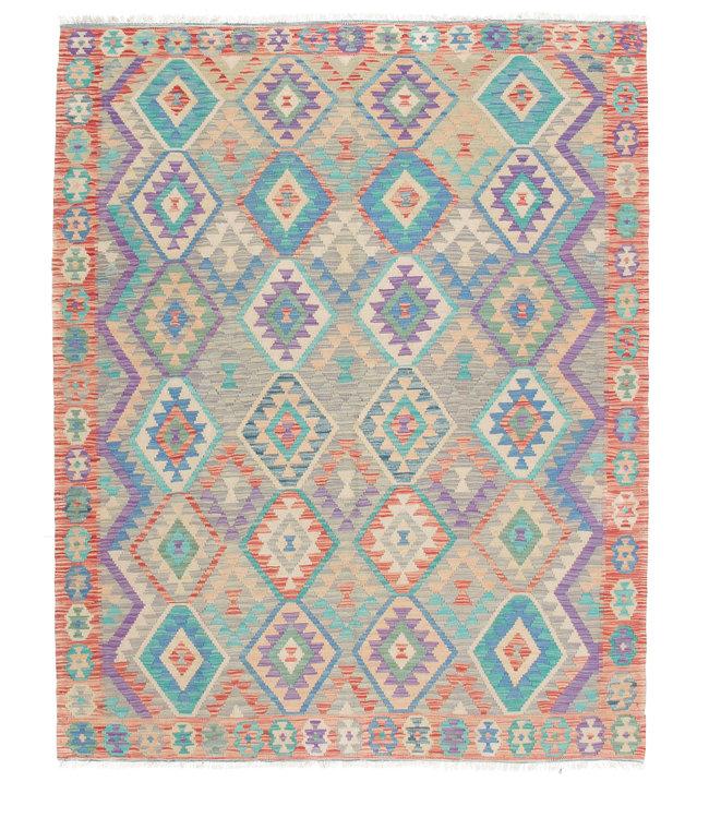 210x170 cm Handgemaakt Wol Kelim Kleed Oosters Tapijt