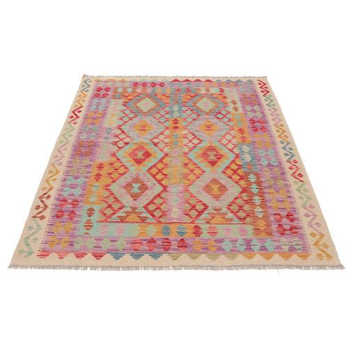 200x159 cm Handgemacht afghanisch Wolle Kelim Orientteppich