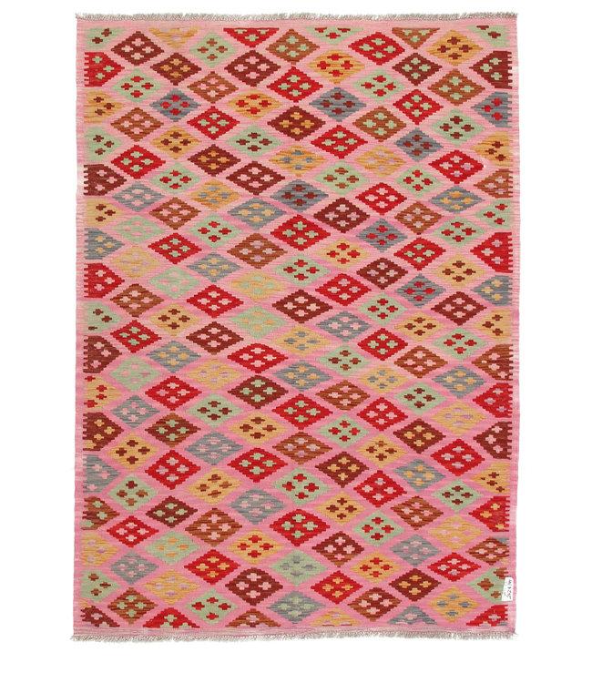 205x145 cm Handgemaakt Wol Kelim Kleed Oosters Tapijt