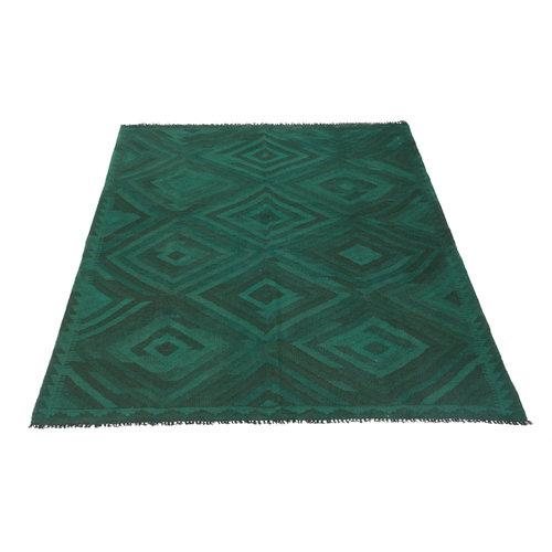 204x146 cm Handgemacht Wolle Kelim Teppich Orientteppich