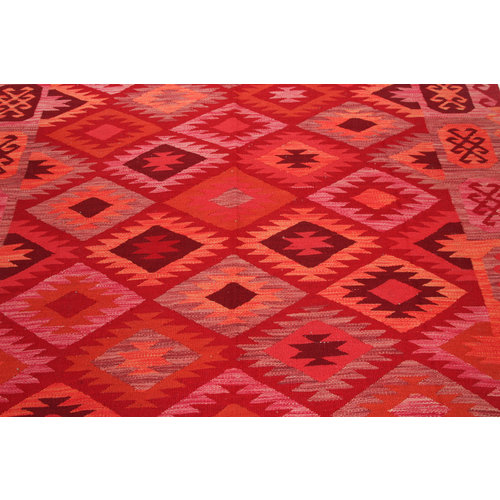293x202 cm Handgemacht Wolle Kelim Teppich Orientteppich