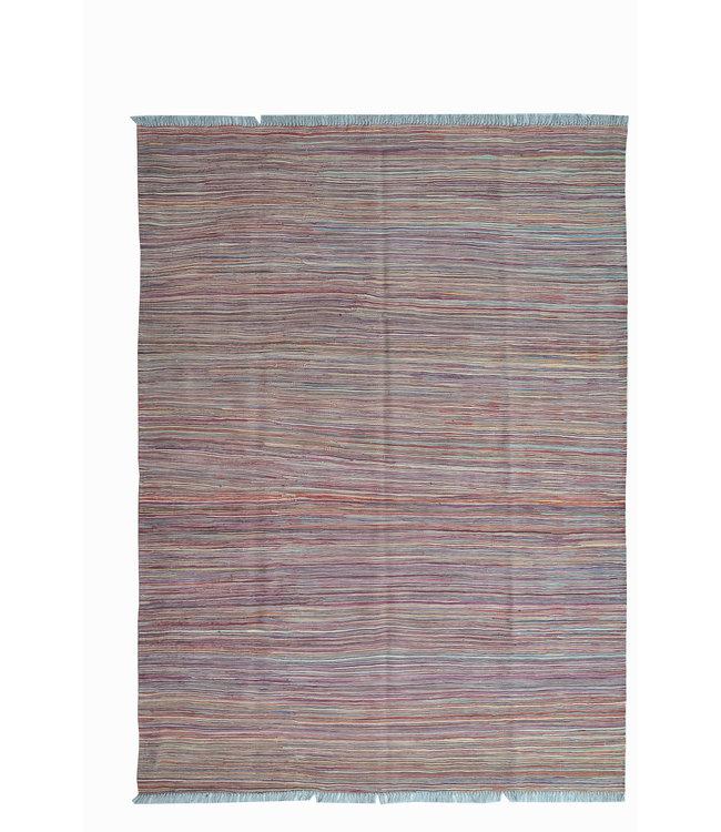 206x149 cm Handgeweven Kelim Tapijt Wol Vloerkleed