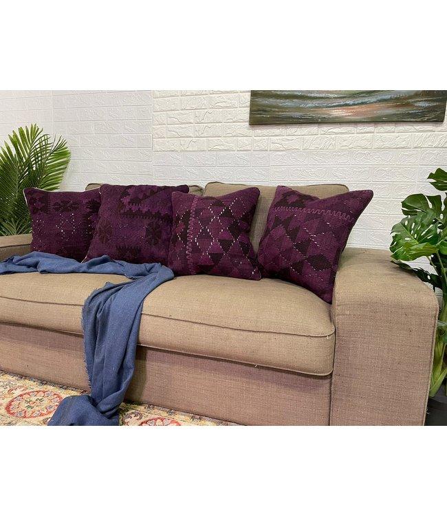 4x vintage unique Kilim Cushion ca 45x45 cm