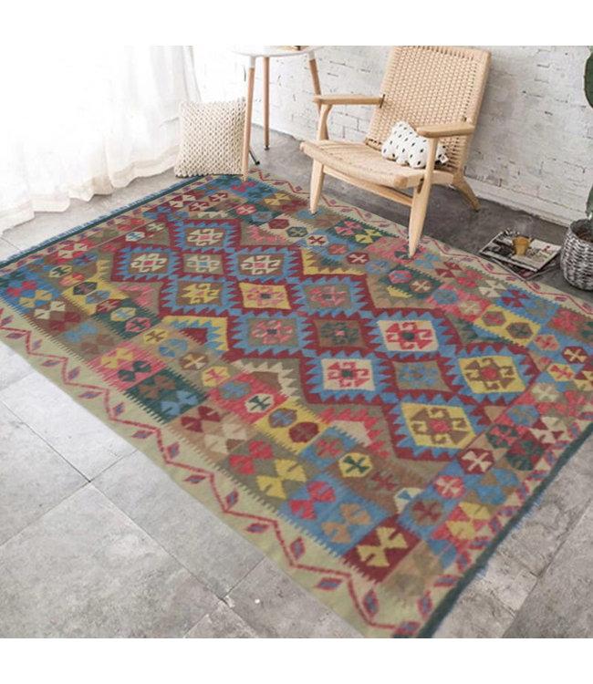 kelim 200 x 151 cm   vloerkleed tapijt kelims hand geweven
