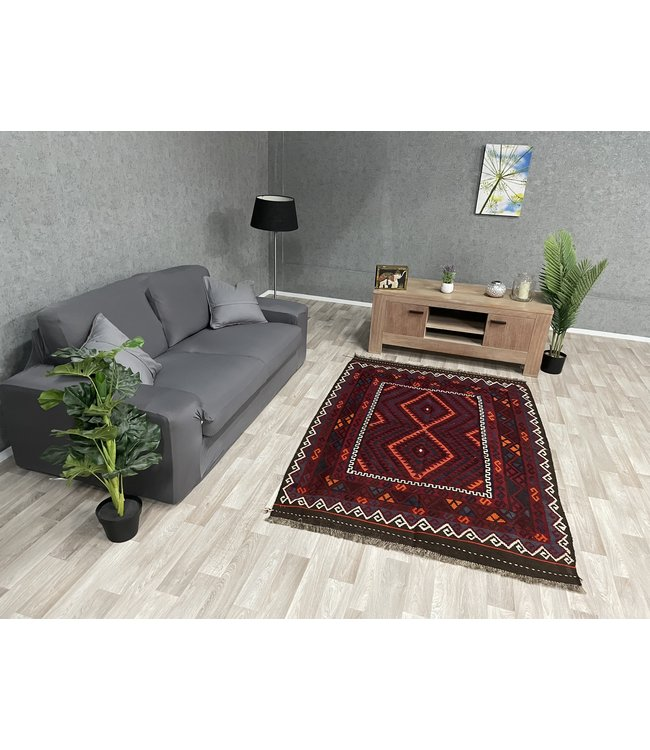 kelim 202 x 136 cm vloerkleed tapijt kelims hand geweven