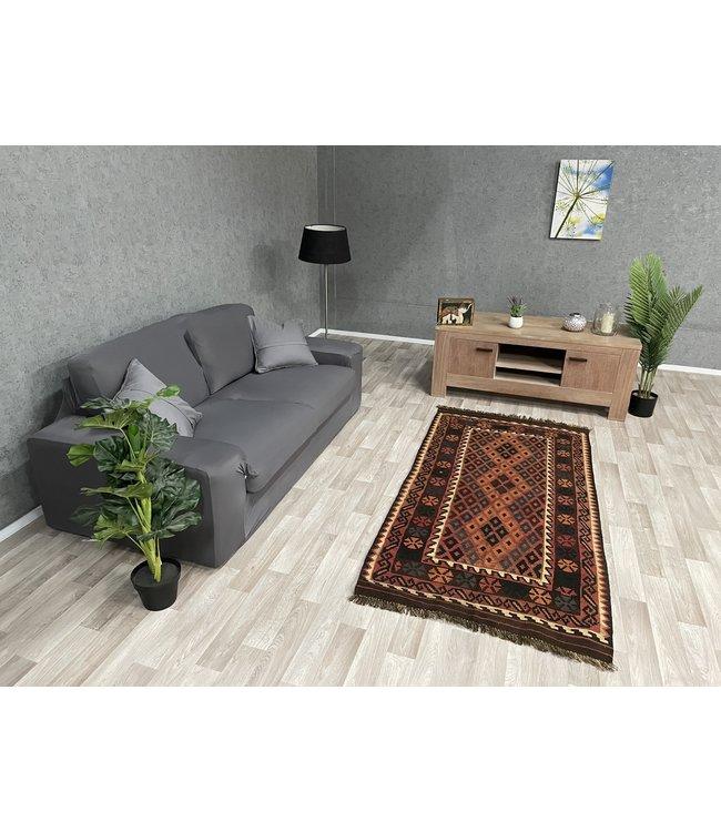 kelim kleed  201 x 96 cm vloerkleed tapijt kelims hand geweven